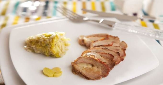Filet mignon de porc au fromage et au lard