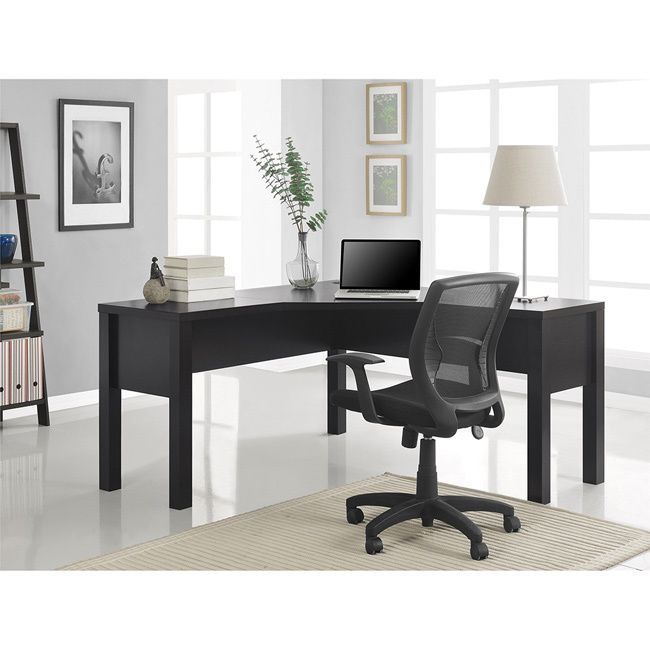 Dont Wait For The Corner Office Grab It Now With This Quality L Shaped Desk Has A Sea Of Desktop Space To Accommodate Computer Coffee Binders