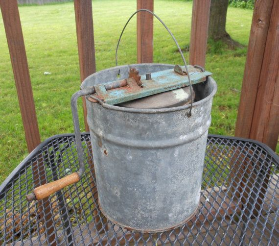 Vintage Rustic Ice Cream Maker Farm Decor by 2cool2toss on Etsy, $32.00