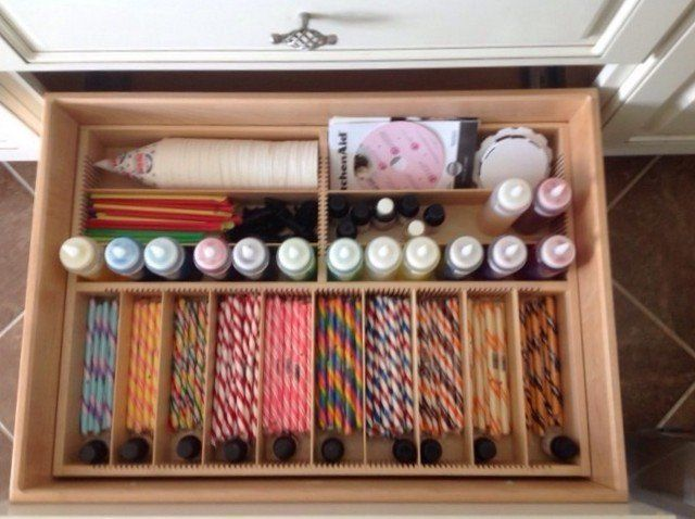 cake decorating supply drawer -- Orderly Drawer Andrea template