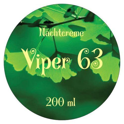 Viper 63 Nachtcreme Aloe Gingko Hyaluronsäure 49,95 € * Viper 63 Tagescreme, Hyaluroncreme Gingko 49,95 € *