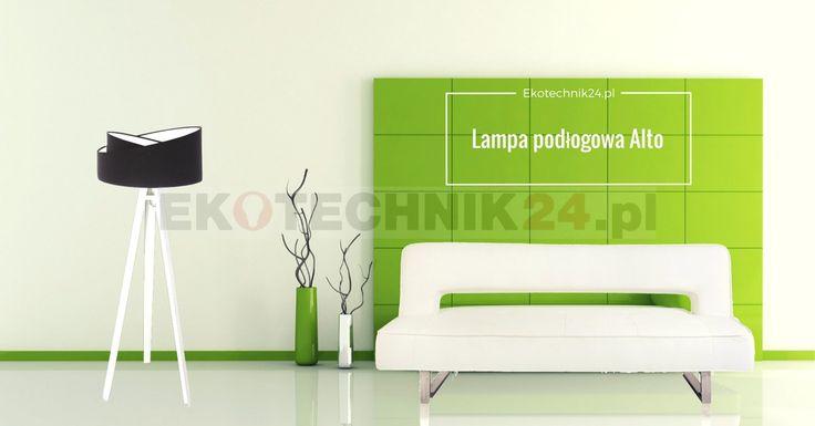 Modern room. Lampa podłogowa Alto Black -white