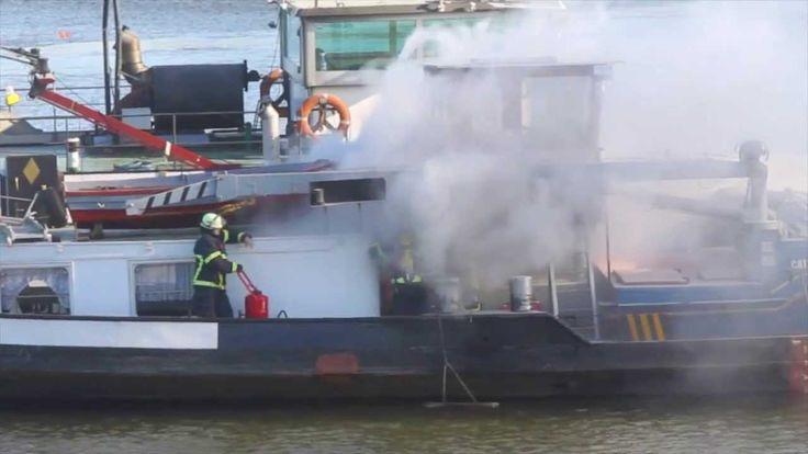2014-03-11 Feuer auf Binnenschiff - Rohschnitt
