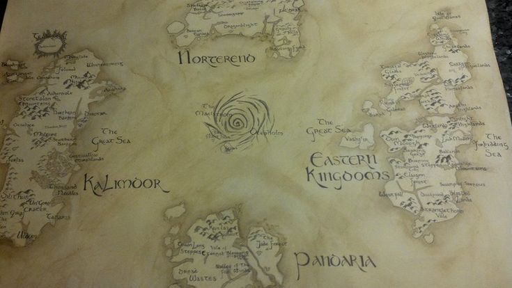 Map of Azeroth- World of Warcraft by ~UnwoundRibbon on deviantART