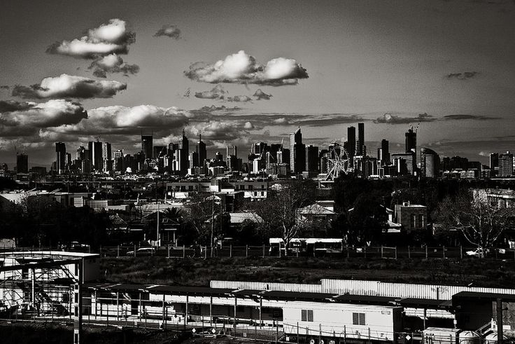 Melbourne from Footscray market car park roof