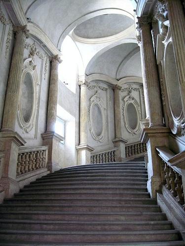 Staircase, Palazzo Carignano, Torino - Guarino Guarini, Architect