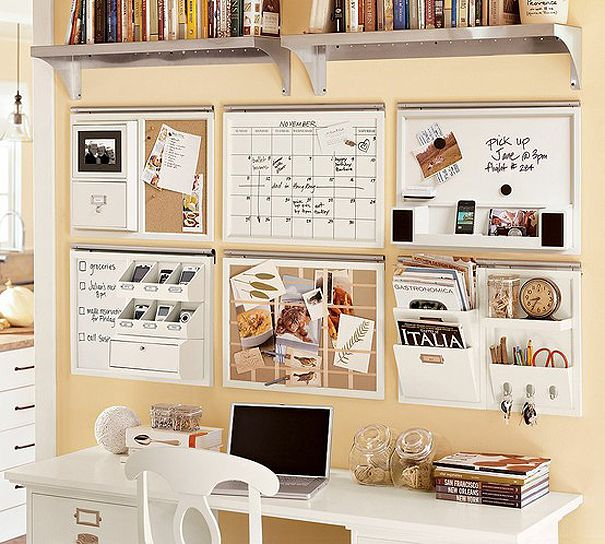 I love this organisational idea for our office...would definitely like to implement in our new house one built.