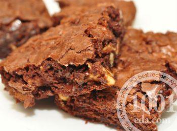 Шоколадно-банановые пирожные Брауни