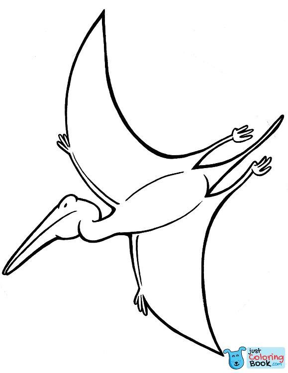 Fight Of Pterodactyls Coloring Pages Free Download