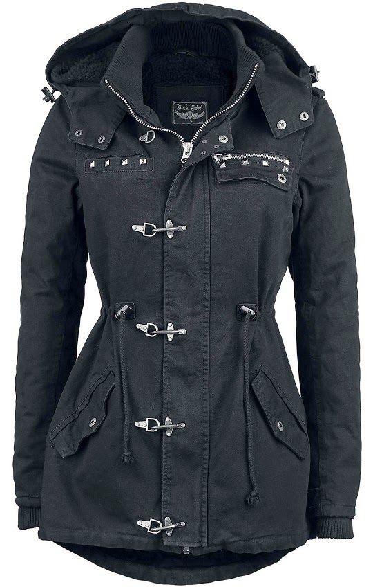 Black Cozy Carabiner Jacket