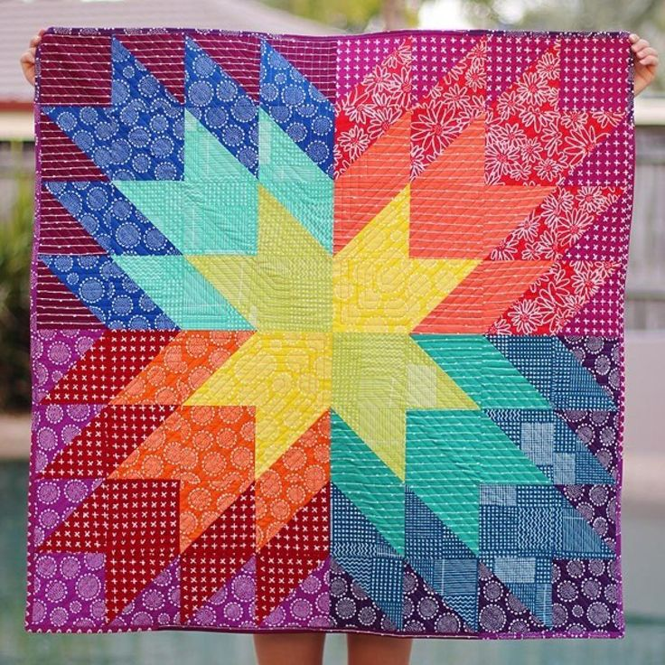 222 best Half Square Triangle quilts images on Pinterest ... : rainbow quilt shop - Adamdwight.com