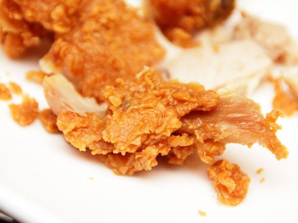 Twice cooked Popeye's Fried Chicken. Yes, buy it, cool it in a fridge and FRY IT AGAIN at home! Try it. I will.