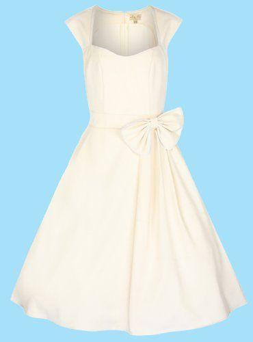 Amazon.com: Lindy Bop 'Grace' Classy Vintage 1950's Rockabilly Style Bow Swing Party Dress: Clothing