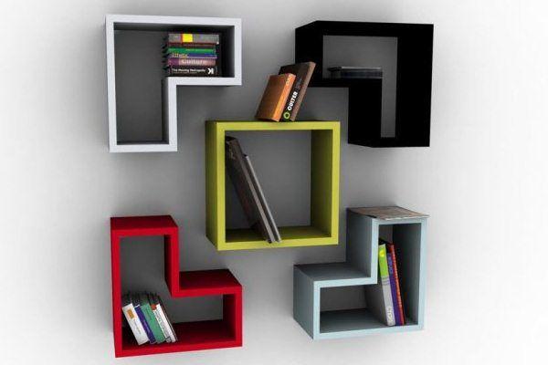 Modular wall shelves