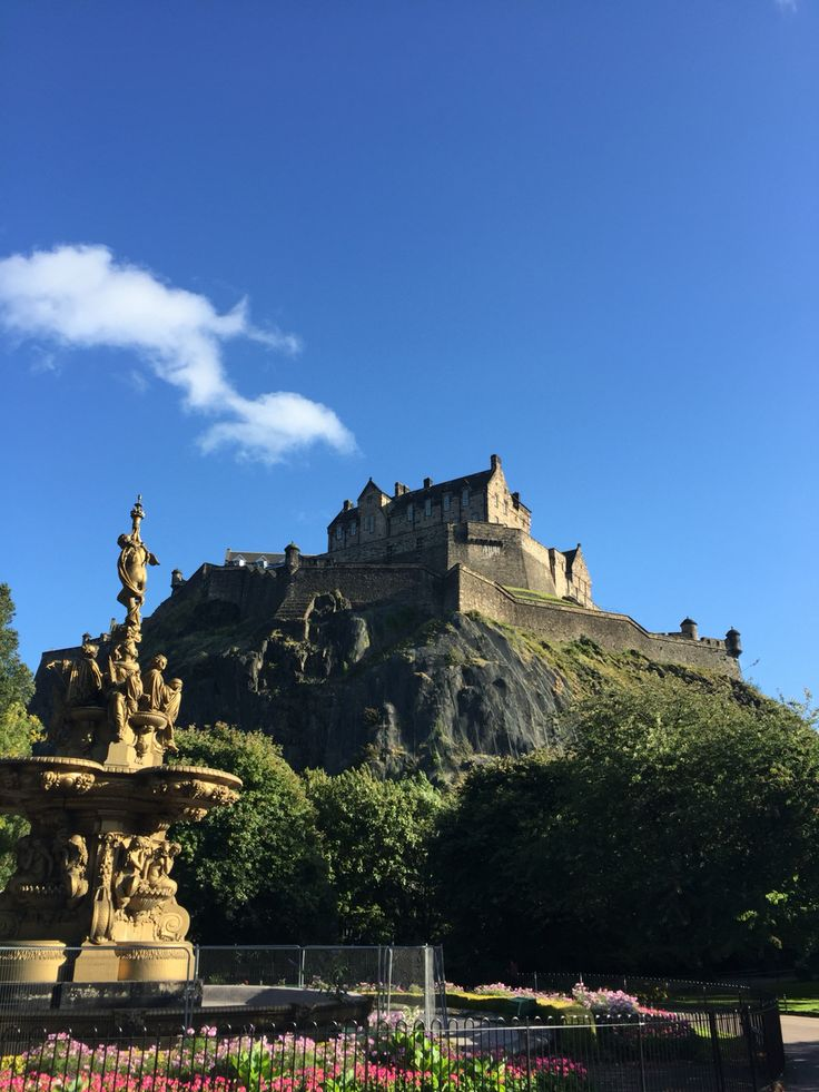 Lovely views of Edinburgh from our walk in the park