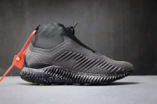 d8cec6736 Mens Winter Adidas Alphabounce Zip 330 Triple black BW1386 Running Shoes
