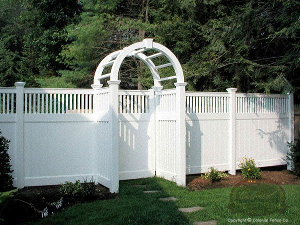 Vinyl fence privacy screen fence
