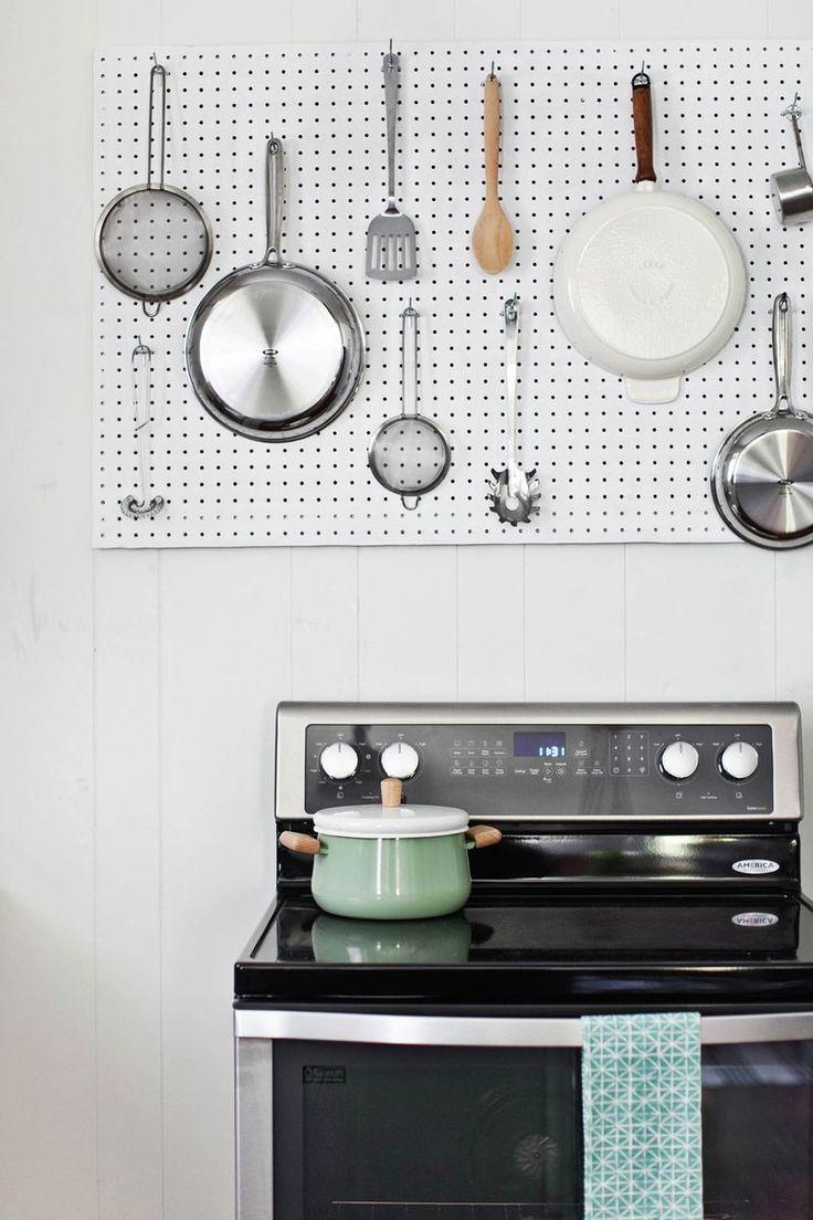 Kitchen kitchen pinterest storage ideas kitchen for Kitchen pegboard ideas