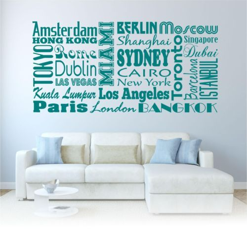 9 best ebay images on pinterest murals sticker and vinyl quotes city names world travel modern country wall art sticker decal quote transfer gumiabroncs Choice Image