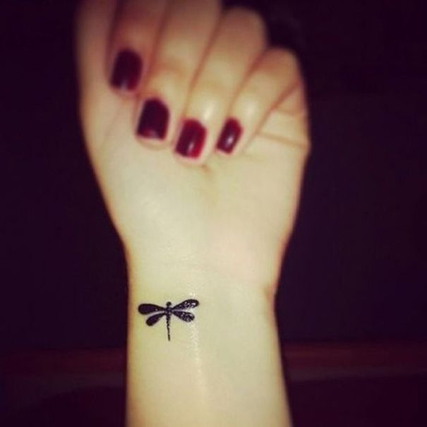 dragonfly tattoo on wrist