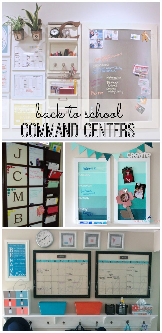 Back to school season is here! Get organized for the school year with one of these inspiring command centers!