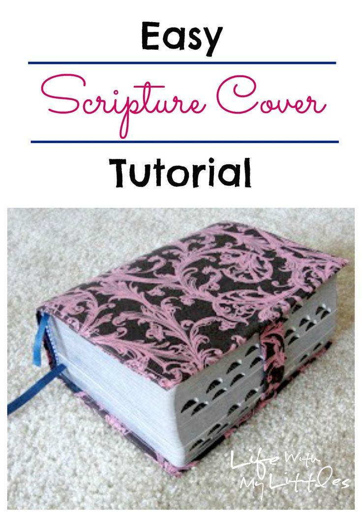 Book Cover Tutorial Xbox : Scripture cover tutorial cases fabrics and tutorials