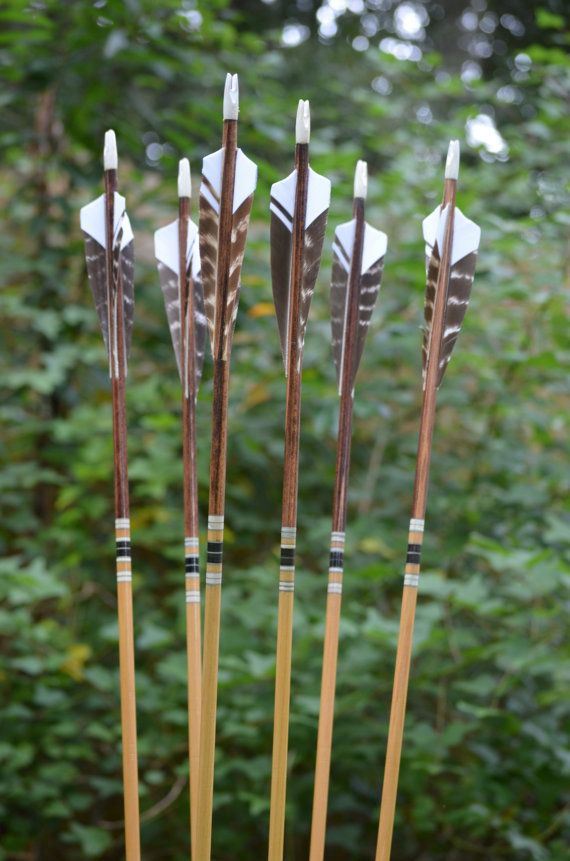 Archery arrows Premium port orford cedar walnut by PodunkHollow