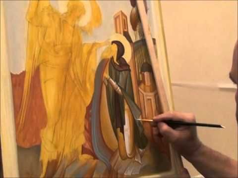 Video of icon painting process, George Kordis (GREECE)