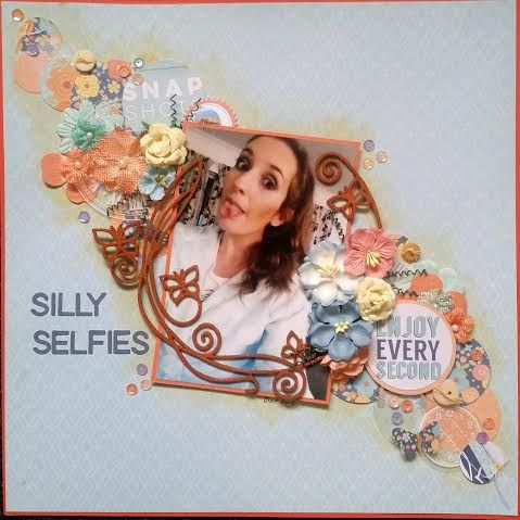 My daughter showing me how to do selfies - and then pulls a silly faces ... hence the title. Layout created using papers from Coco Vanilla
