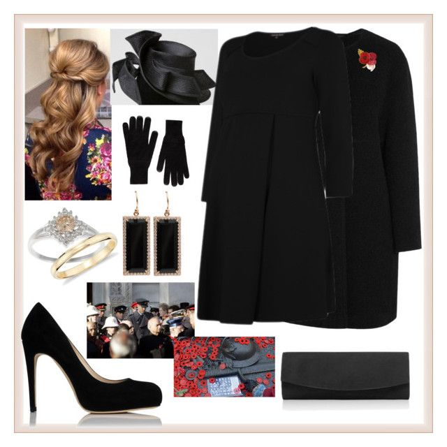 Remembrance Day 2014 by charlottedebora on Polyvore featuring polyvore fashion style Iris & Ink L.K.Bennett Irene Neuwirth Blue Nile Splendid clothing