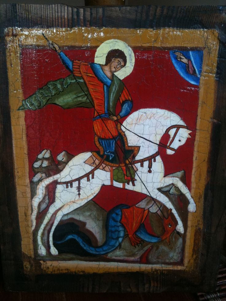 Replica painting of St. Georg