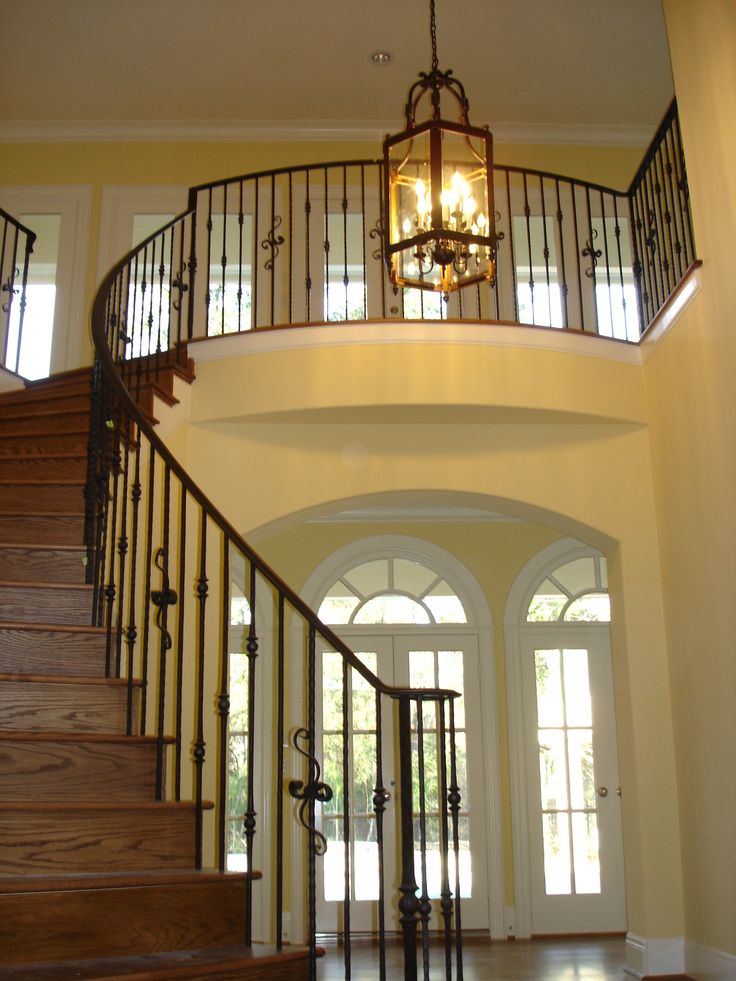 1000 images about custom wrought iron gallery on for Custom staircase design