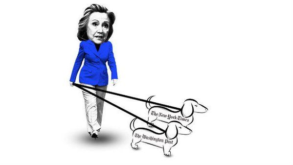 Ted Cruz Responds to Offensive Cartoon With His Own Tagging Media as Hillary Clinton Lapdogs