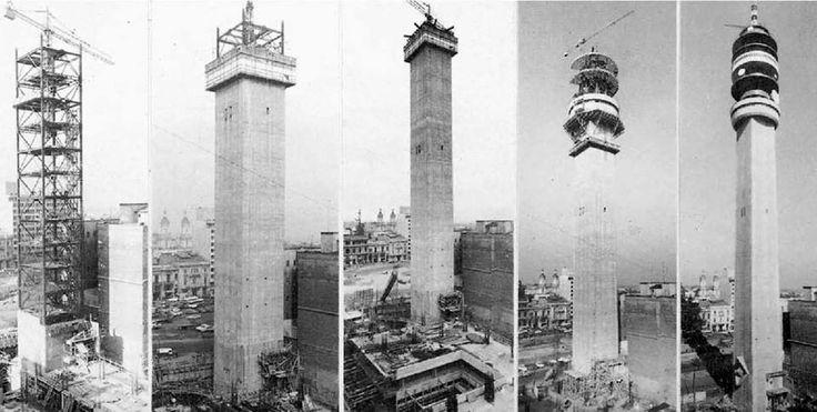 Construcción Torre Entel de Santiago desde 1971 a 1975.