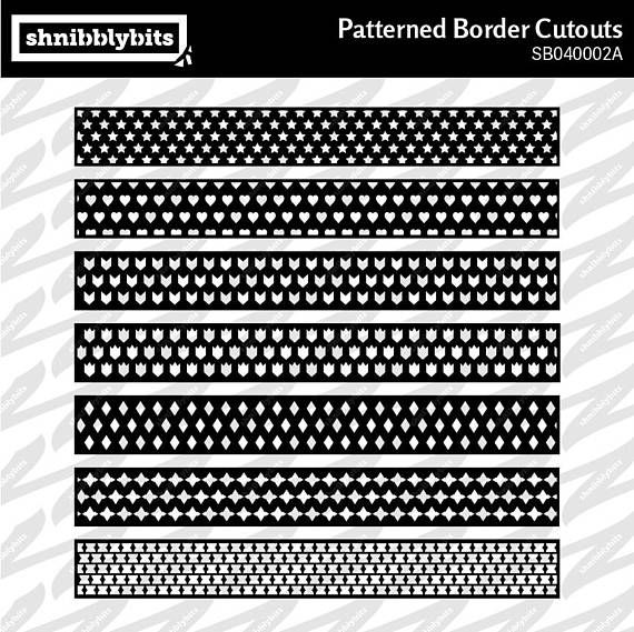 14 Patterned Border Cutouts