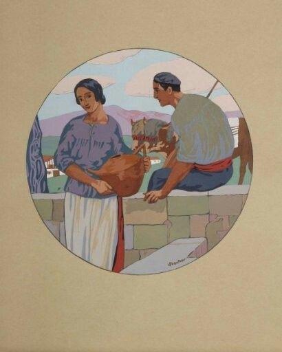 Basques, scène galante Louis Floutier