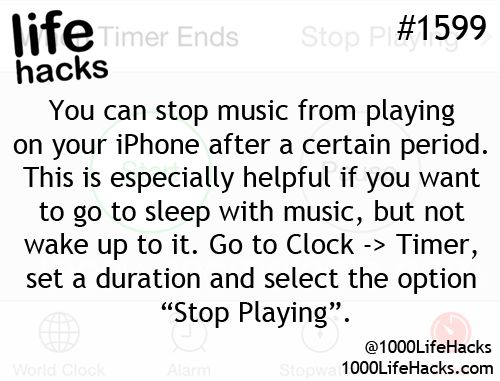 Music, time your iPhone to turn off after a certain period of time