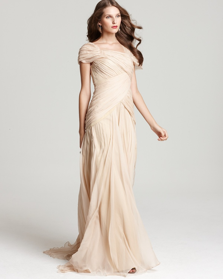 Tadashi Shoji Gown Pleated Cap Sleeve Bloomingdale 39 S Oh Yeah And