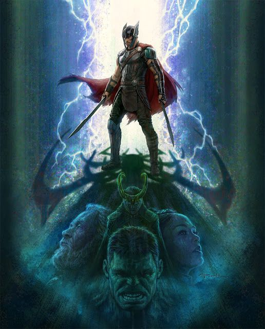 The Geeky Nerfherder: #ArtOfTheDay: 'Thor Ragnarok' by Andy Park