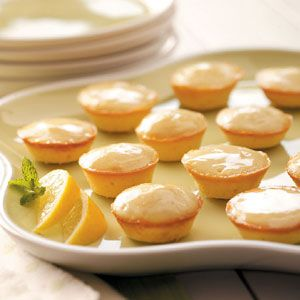 Bite-size lemon tea cakes with cream cheese...crowd favorite....