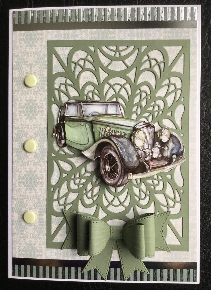 By Dianne Potter: Sue Wilson for Creative Expressions French background die and Classic Bow die