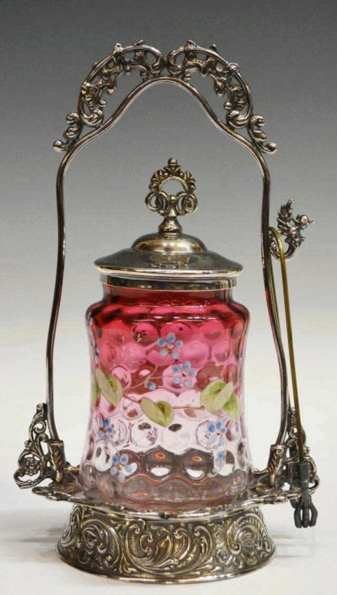 What is a pickle castor? | VICTORIAN ART GLASS & SILVER PLATE PICKLE CASTOR : Lot 6