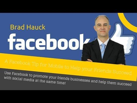 Brad Hauck talking about how you can help other businesses succeed on Facebook by checking in.