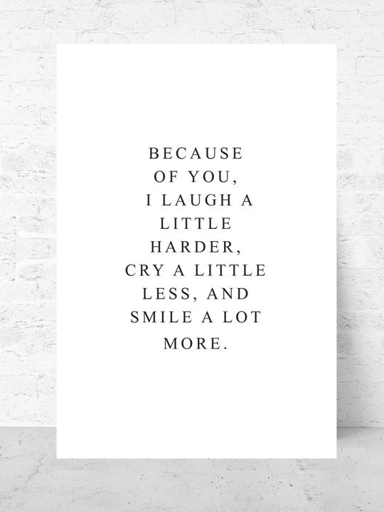 Laugh harder / Art print Life Collection  |  Starting from $37  |  #poster #art #design #interior #inspirational #gallery #wall #quote  @getmercerandgrand