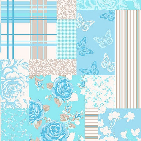 coloroll pollyanna candy peppermint blue patchwork wallpaper m0722 wallpaper samplespeppermintbedroom