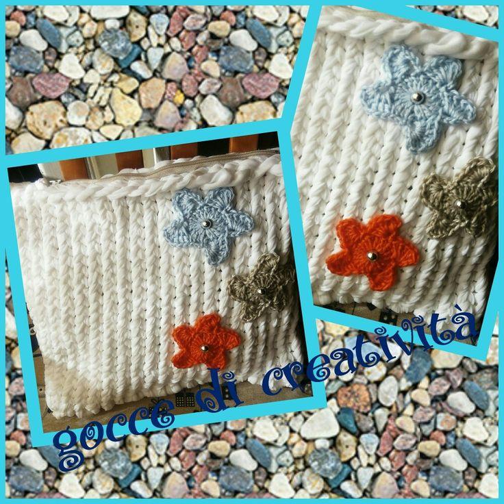 Pochet in fettuccia con stelle marine in cotone