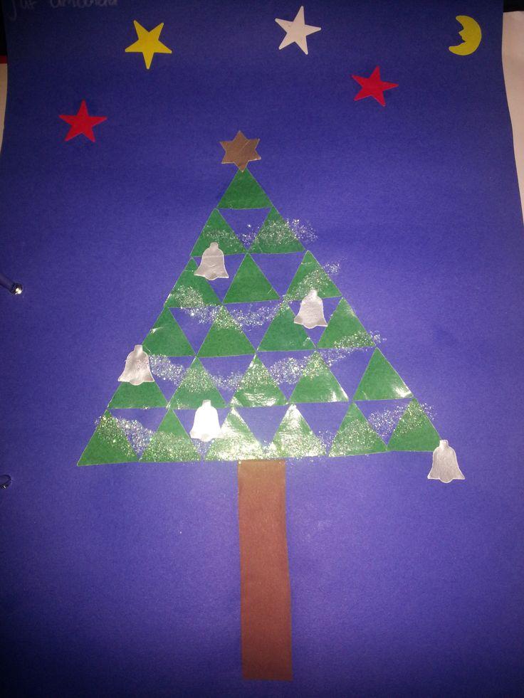 Kerstboom mozaïek