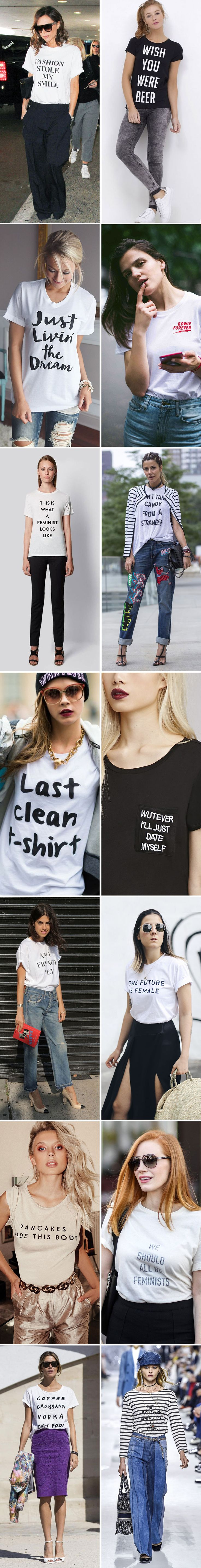 Hot now: T-shirts com frases de efeito