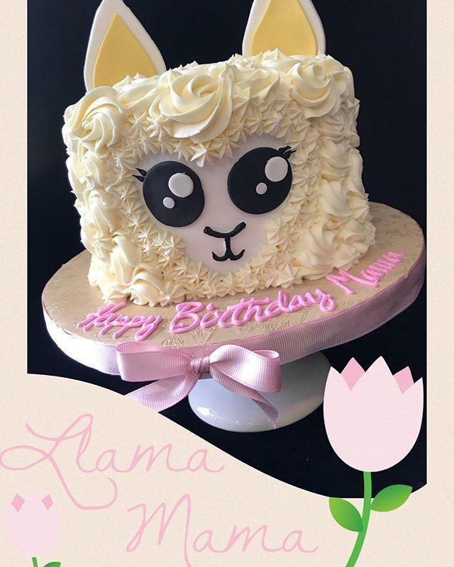Pleasant Cmthesweetspotbakery Happybirthday Llama Buttercreamcake Personalised Birthday Cards Veneteletsinfo
