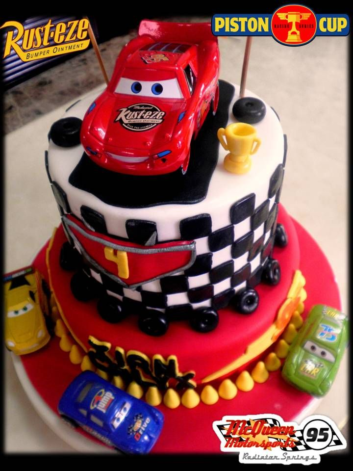 Disney Cars Piston Cup 2 Layer Cake Disney Cake